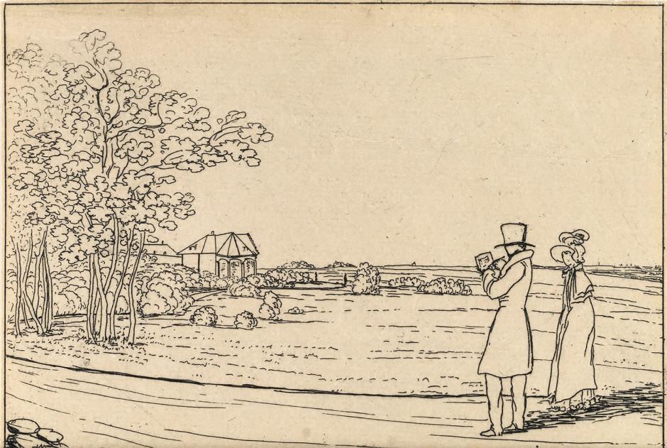 В.А. Жуковский. Вид на ферму