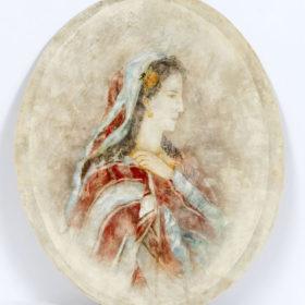 Портрет О.А. Боратынской. Неизвестный художник. Конец 1860 – начало 1870-х гг.