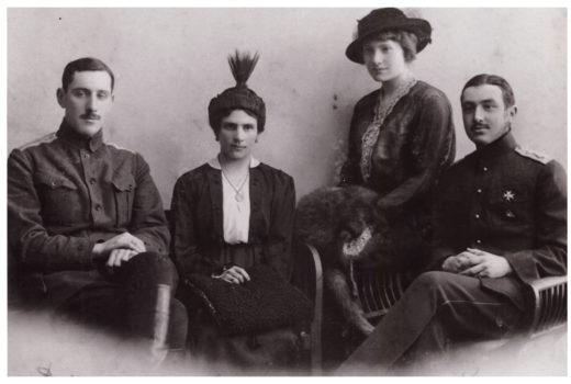 13. Дмитрий и Софья Боратынские, Ольга и Кирилл Ильины. Казань, 1917