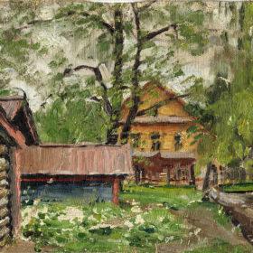 А.А. Боратынский. Часть дома на Мельнице. 1912 -1915 гг. Холст, масло.