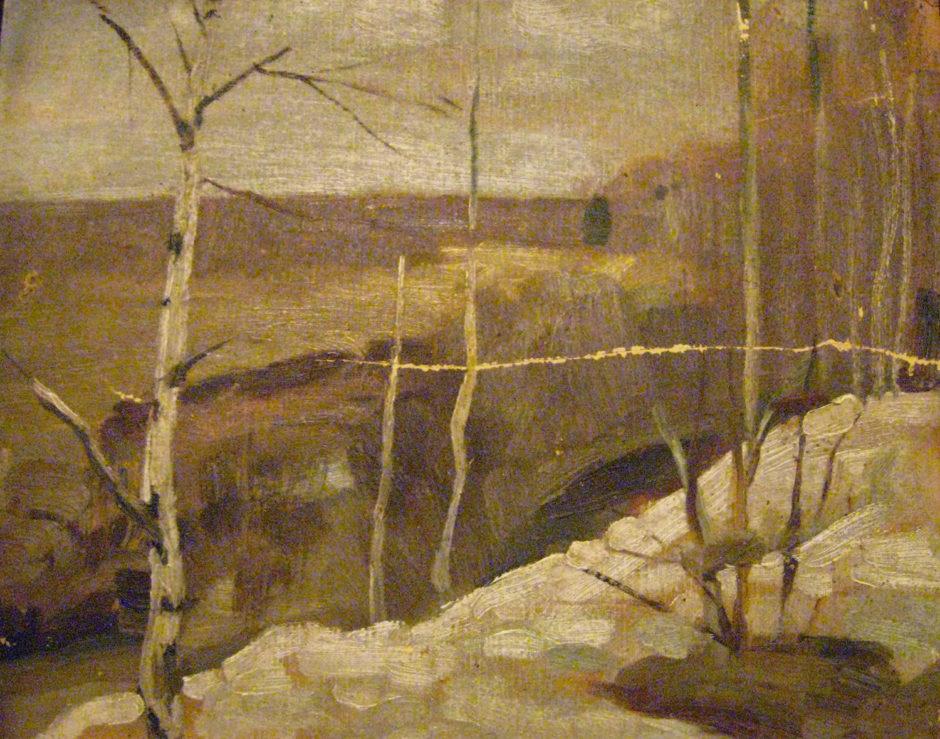 А.А. Боратынский. Весна в Шушарах. 1910-е. Холст, масло.