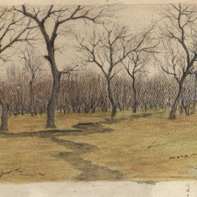 А.А. Боратынский. Весна. 1913 г. Бумага, акварель, карандаш.