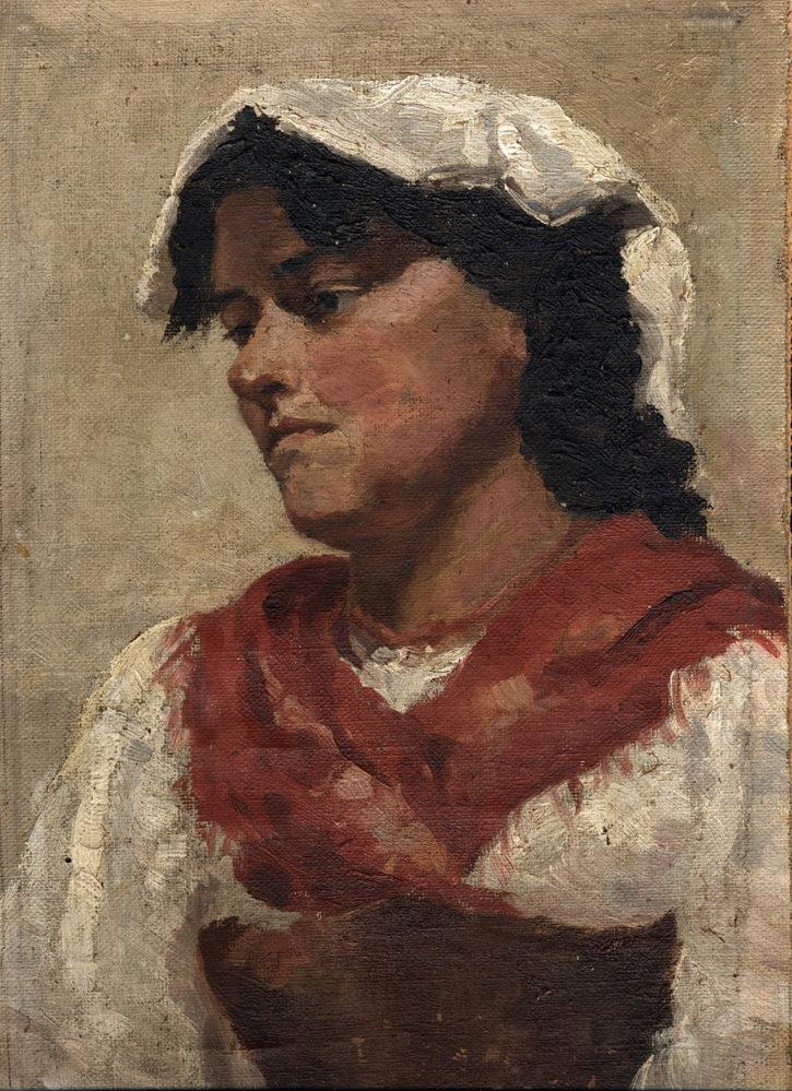 К.Н. Боратынская. Портрет итальянки. Рим. 1899. Масло, холст.