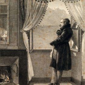 Портрет В.А. Жуковского. Гравюра Н.И. Уткина с оригинала Е.Р. Рейтнера. 1835 г.