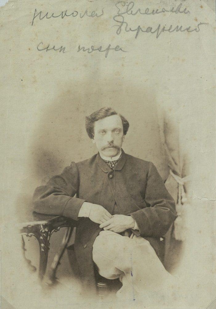 Н.Е. Боратынский, сын поэта Евгения Боратынского. Фотография. Фотобумага. 1865-1866 гг.