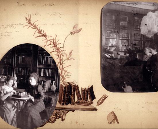 Страница альбома «Новоспасское». 1890-е
