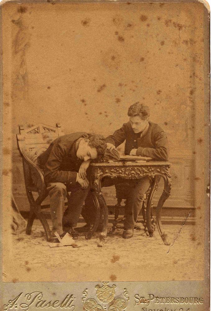 Портрет А.Н. Боратынского с Э.А. Ферсманом. Санкт-Петербург. 1889(?). Фотоателье А. Пазетти.