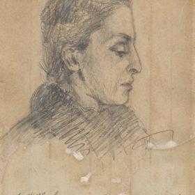К.Н. Боратынская. Портрет О.А. Боратынской. 1895. Бумага, карандаш