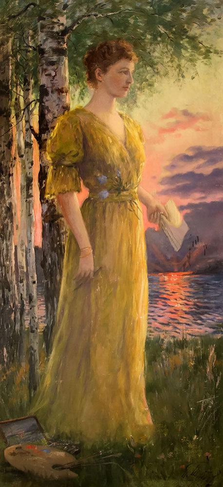 П.Д. Шипов. Портрет Н.Д. Боратынской. 1903. Холст, масло