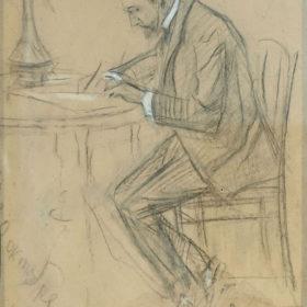 А.А. Боратынский. Портрет А.Н. Боратынского. Казань. Октябрь 1917. Картон, уголь