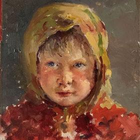 Н.И. Фешин. Портрет крестьянской девочки. Холст, масло. 1901