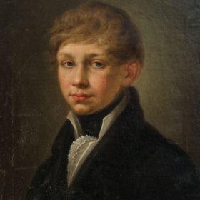 Портрет молодого человека из семьи Боратынских. Неизвестный художник. Холст, масло. 1820-е
