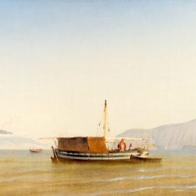Неаполитанский залив. Неизвестный художник. Неаполь. Холст, масло. 1840-е