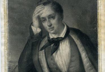 Шевалье Франсуа Фредерик. Портрет Е. А. Боратынского. 1852. Бумага, литография.