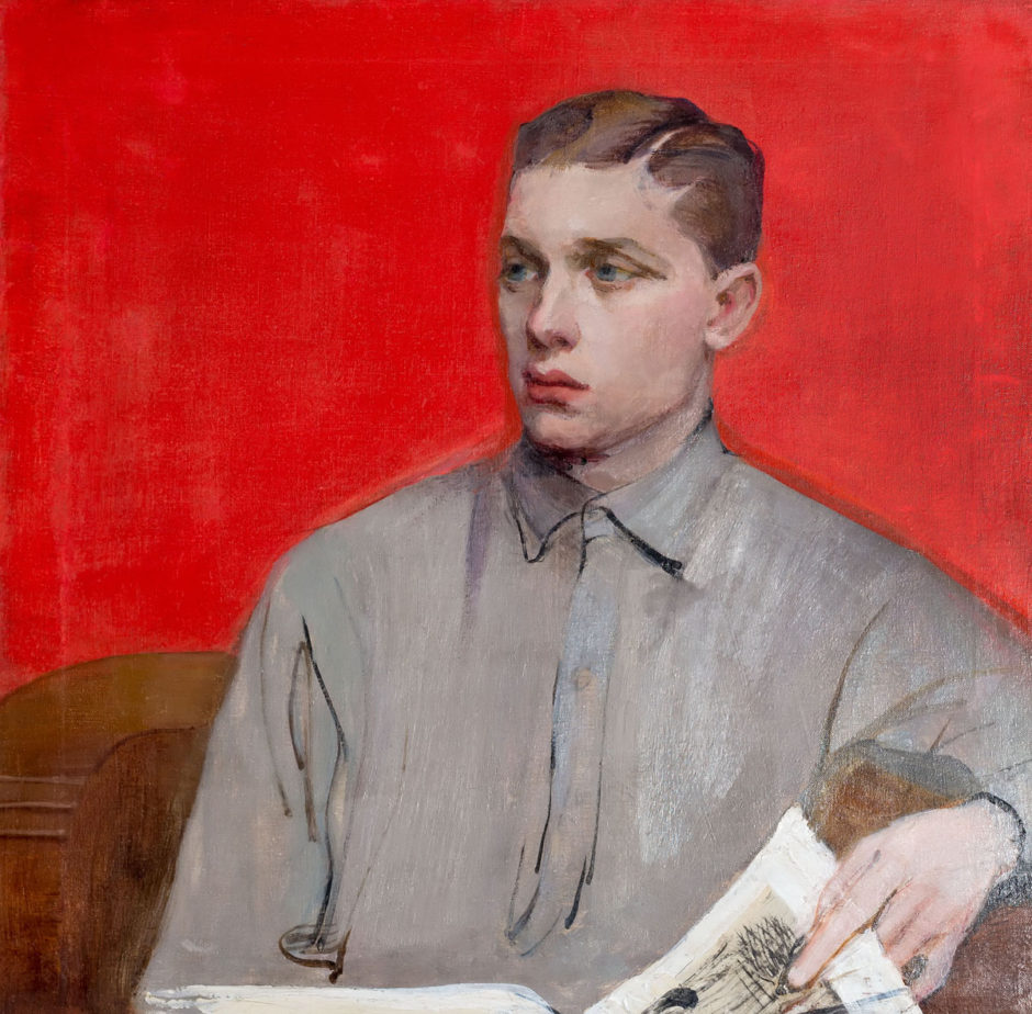 Н.М. Сапожникова. Портрет Алека (А.А. Боратынского). 1916. Холст, масло