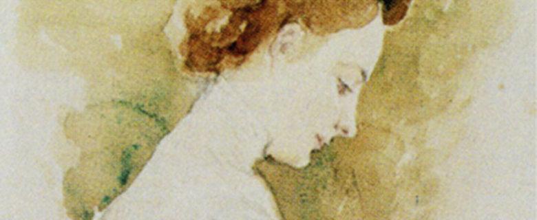 А.И. Фомин. Портрет О.А. Боратынской. Казань. 1916. Акварель, бумага, картон