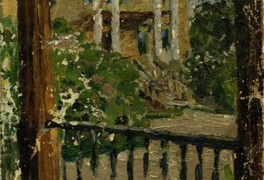 А.А. Боратынский. Часть дома на Мельнице (дом на Крутояре). 1912-1915 гг. Холст, масло.
